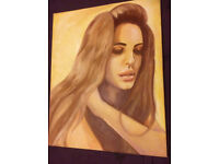 Pop Art. *Original painting* of Lana Del Rey