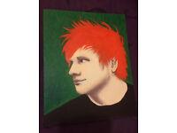Pop Art. *Original painting* of Ed Sheeran