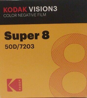 Kodak Super 8 50D 7203 VISION 3 COLOR Negative *Brand New*