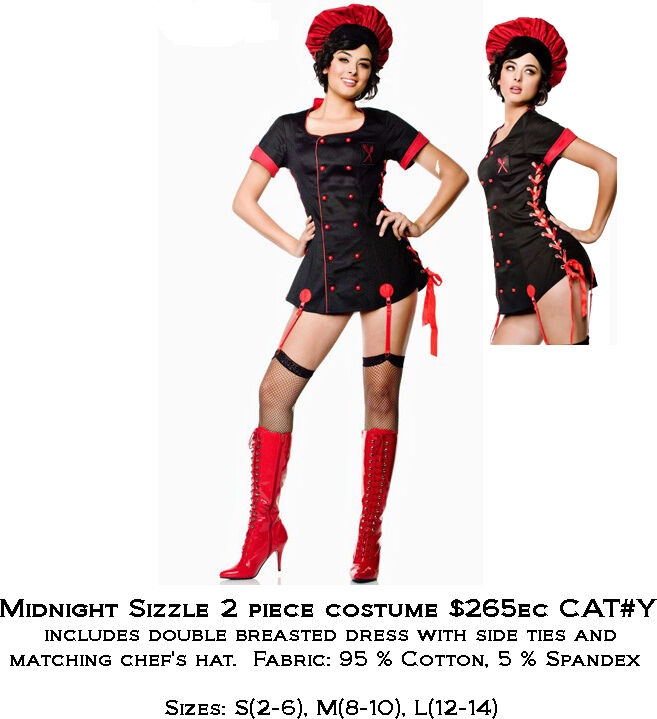 Sexy Womens Adult Midnight Sizzle Costume Size Large