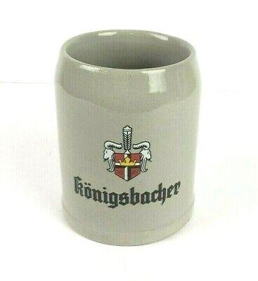Vintage Konigsbacher Gray .4 Liter Stoneware German Beer Mug