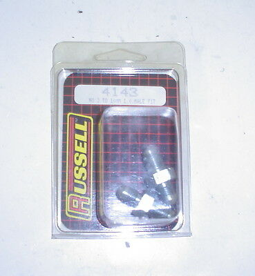 Russell Edelbrock -3an Metric 10mm X 1.0 Male Metric Brake Adapter Fittings