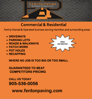 FENTON PAVING FOR ALL YOUR ASPHALT NEEDS