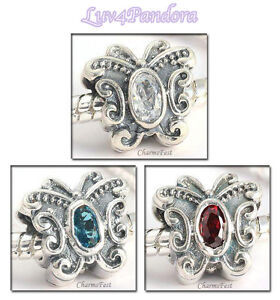 925-Solid-Sterling-Silver-Butterfly-CZ-Series-Beads-fits-European-Charm-Bracelet
