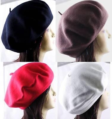 1 Piece 100% Wool Beret Tam French Artist Beanie Hat Cap Winter Ski Unisex 100% Wool Beret Hat