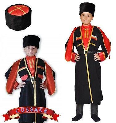 Russian Cossack Boy Kids Carnival Costume CHERKESKA Traditional Kozak Suit - Traditional Russian Costume