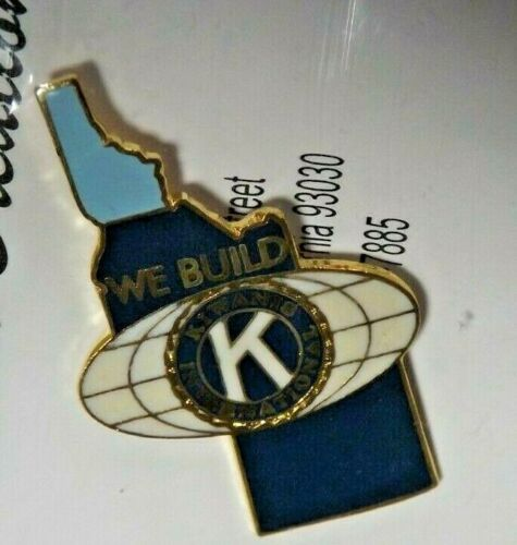 Kiwanis International Idaho Wyoming Lapel Pin World We Build