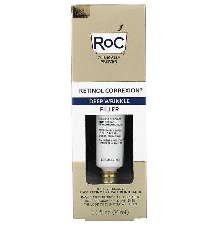 RoC Retinol Correxion Deep Wrinkle Filler 1.0 FL OZ Retinol Hyaluronic SEALED