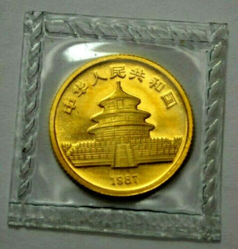PROOF UNC 1987-S China Panda 1/10 oz .999 Gold 10 Yuan Coin Chinese Coin Sealed!