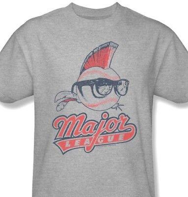 Major League T-shirt Wild Thing 90s baseball movie cotton blend grey tee Par474 - Wild Thing Major League