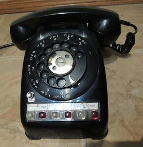 Circa 1960's Automatic Electric  3 Line Rotary Phone