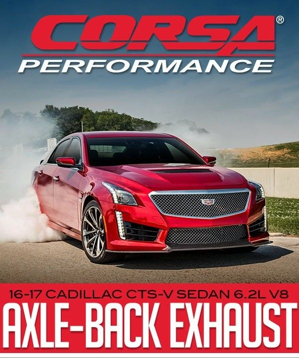 CORSA PERFORMANCE AXLE-BACK EXHAUST: 2016-17 CADILLAC CTS