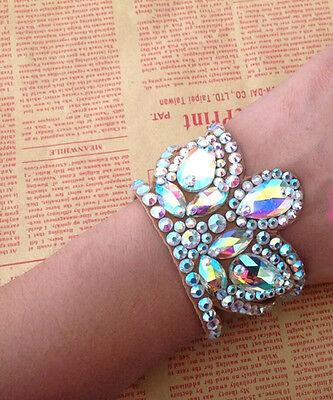 Women Ballroom Latin Rumba Watlz Dancing Arm Band Accessorier Crystal