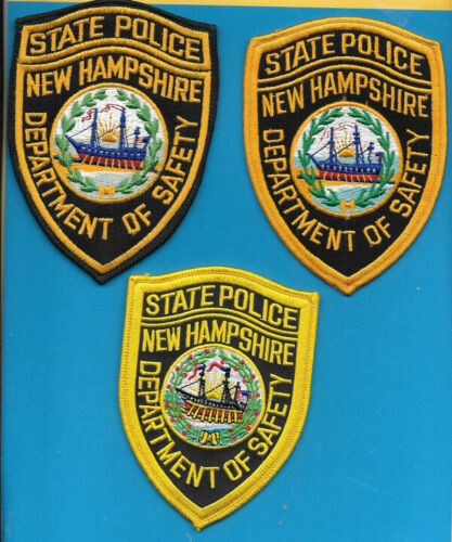 LOT OF 6 NEW HAMPSHIRE STATE POLICE PATCHES NHSP MOTOR VEHICLE ENFORCEMENT DPS