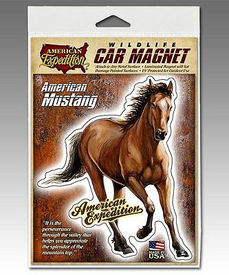 American Expedition MUSTANG HORSE Magnet Car,Truck,Gun Safe, Made in USA