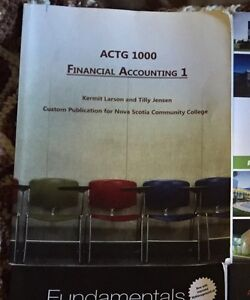 NSCC Business Admin Year 1 accounting book
