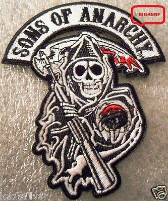 Sons Of Anarchy Patches (SONS OF ANARCHY  REAPER PATCH  JACKET  VEST  HAT  BIKER ROADGEAR  - IRON OR)