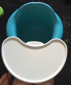 Blue/green bumboo seat with tray