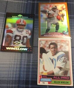 3 Kellen Winslow Football Cards - 1 Rookie #150