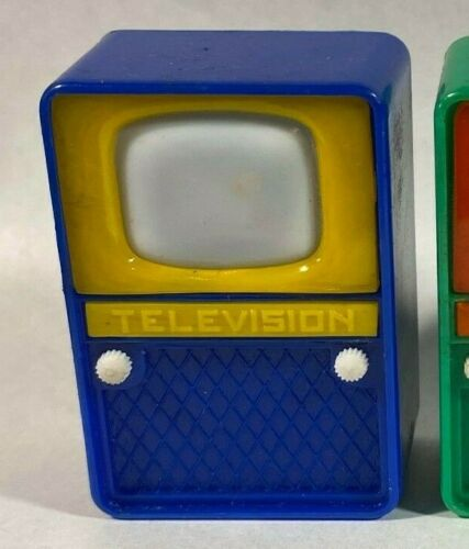 Vintage Television TV Nudie Girlie Peeper Novelty Viewer Toy - Hong Kong - BLUE