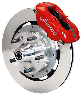 """WILWOOD DISC BRAKE KIT,FRONT,79-86 CHEVY,PONTIAC,OLDS,12"""" ROTORS,RED CALIPERS"""