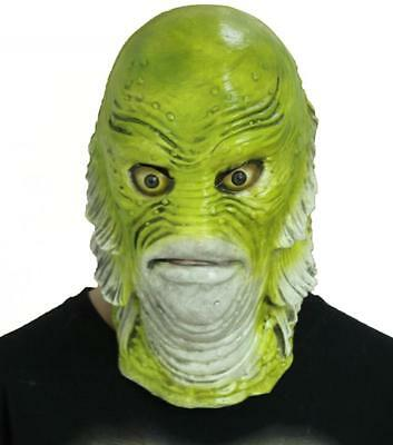Creature from the Black Lagoon Mask Fish monster Adult Latex halloween Costume @](Creature From The Black Lagoon Halloween Costume)