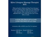 Bjorn Lonngren Massage Therapist MTI