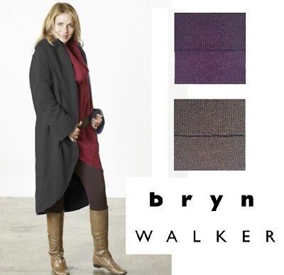 BRYN WALKER USA Bamboo Cotton Fleece  LONG WRAP COAT  Jacket  1X 2X 3X FALL 2018