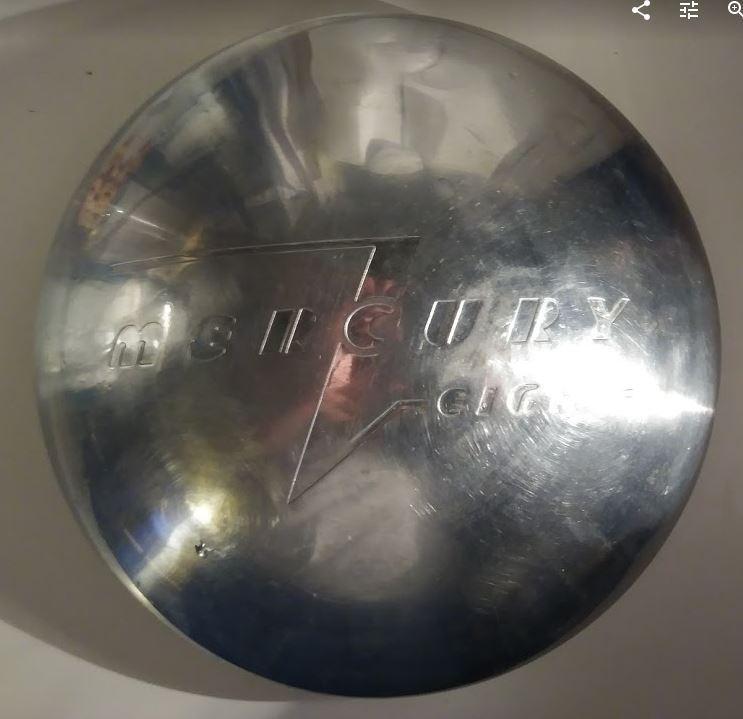 1940 Mercury Eight HubCap ORIGINAL Stainless Steel 40 Merc 8 NICE V8