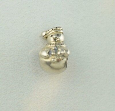 Chamilia Sterling Silver Snowman Charm Bead GE-8