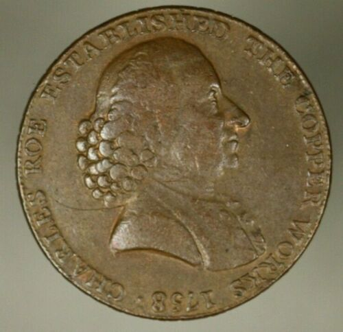 Cheshire MACCLESFIELD Half Penny Conder Token 1790  about XF    A1452