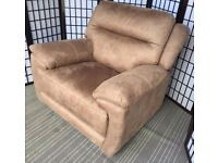 Pair Furniture Village Touch Power electric reclining armchair Tobacco USB port £795