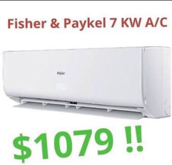 ***NEW*** 7KW Fisher & Paykel Split System Air Conditioner ..  $1079 !