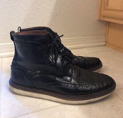 House of Hounds Men's Black Leather Hi Cut Oxfords Shoes Sz EU 44/US 10.5