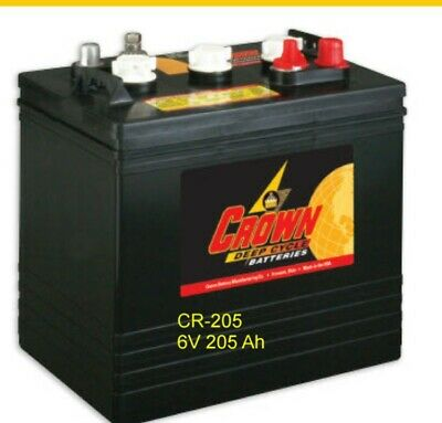 Batteries 6v 205 Ah For Solar Deep Cycle Crown Cr-205 8 Each