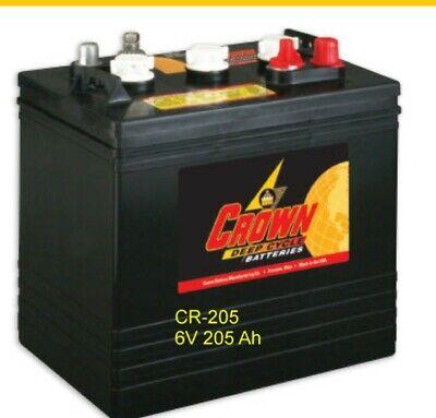 Batteries 6v 205 Ah For Solar Deep Cycle Crown Cr-205 8 Each