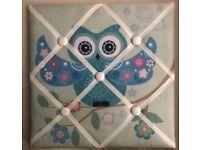 Owl fabric notice board - New