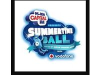 Three summer time ball tickets