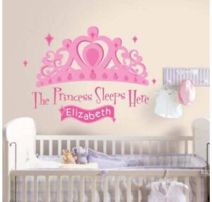 New Princess Customizable Wall Decal