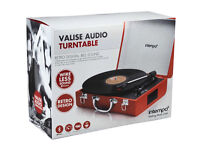 BRAND NEW Intempo Retro Portable Bluetooth Compatible Turntable Record Player