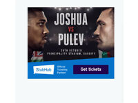 4 Anthony Joshua tickets for sale at Cardiff stadium