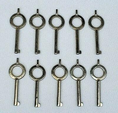 10 Handcuff Keys Police Law Enforcement Universal Standard Plated Mild Steel
