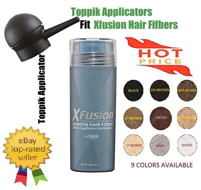 Xfusion Hair Fiber - XFUSION Hair Loss Solutions Concealer Hair Building Fibers 0.98oz 9 Colors
