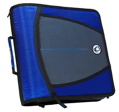 Case It Case-it Mighty Zip Tab 3 3-ring Zipper Binder Blue