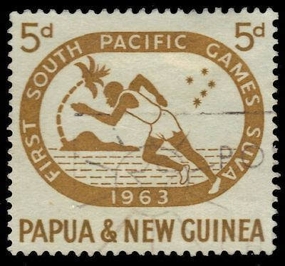 "PAPUA NEW GUINEA 176 (SG49) - Suva '63 South Pacific Games ""Runner"" (pa36867)"