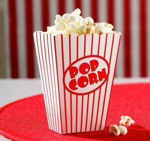 40 Popcorn Boxes Movie Pack Hollywood Birthday Party Home Cinema Holder Bags NEW