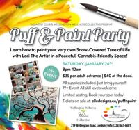Cannabis-friendly Puff&Paint Party