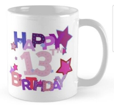 13 years 13th Birthday small gift idea mug present girl - 13th Birthday Ideas