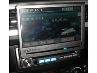 Alpine IVA D300R Motorised Flip Out Screen DVD Player In Car Stereo Fits Bmw Mercedes Audi Pioneer