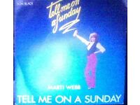 marti webb,vinyl 45.tell me on sunday.